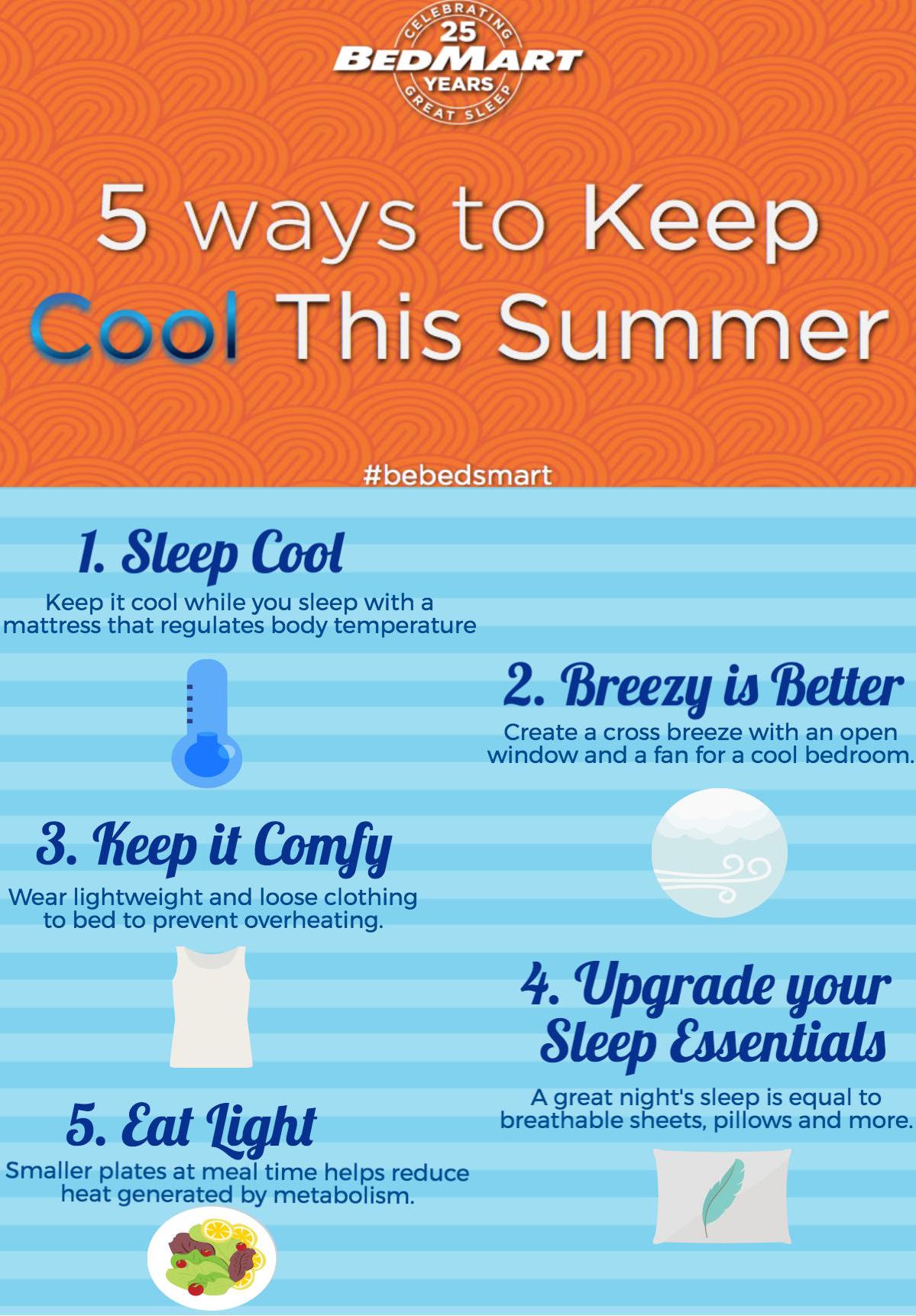 BedMart presents 5 ways to keep cool while you sleep this summer