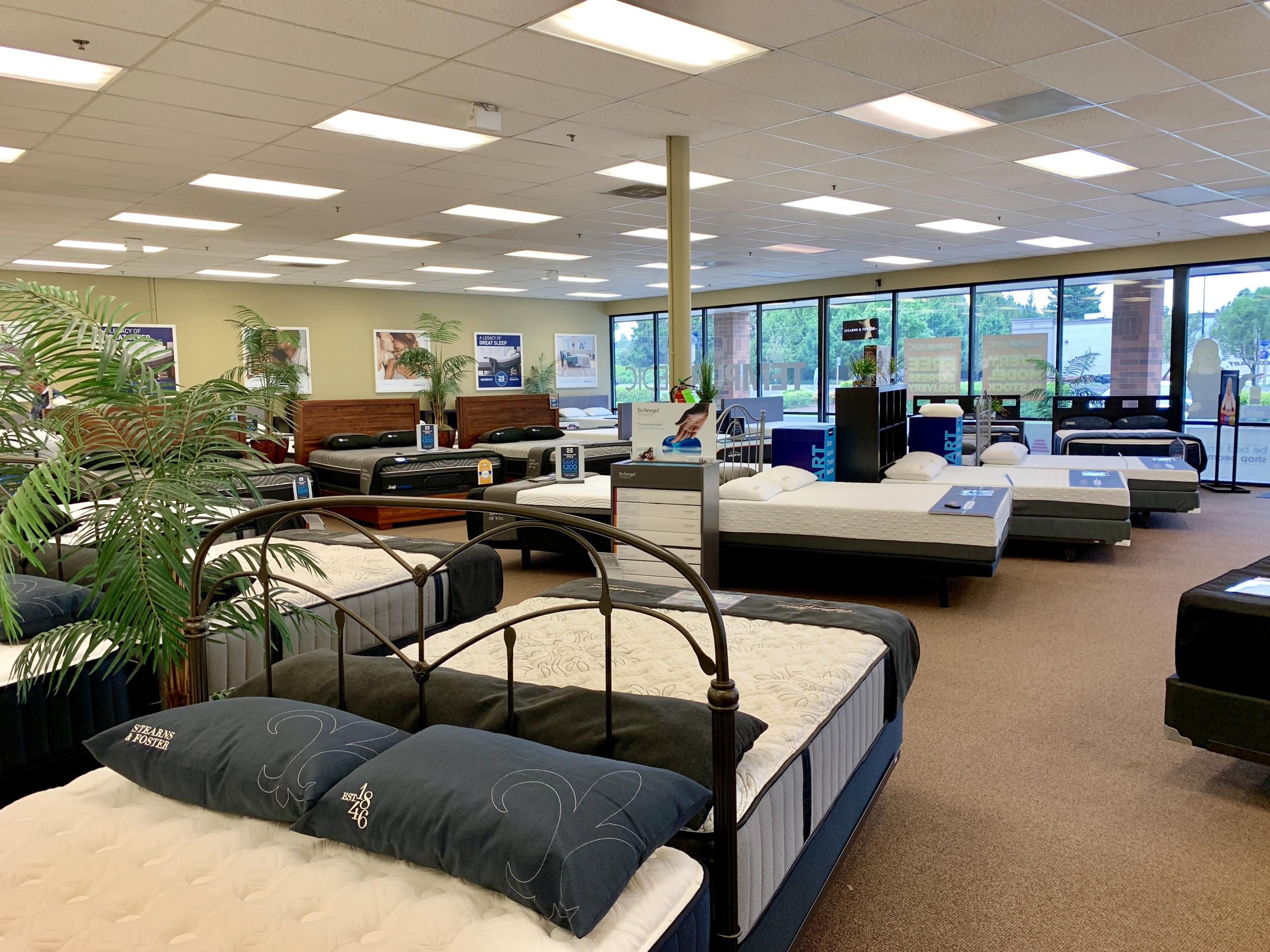 sherwood mattress store interior